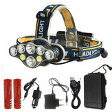 XANES® 2606-8 3300LM 2xT6+4xXPE+2xCOB LED Headlamp 8 Modes USB Charging Camping Cycling Hunting Emergency Lantern