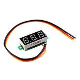 3 pz 0,28 Pollici tre fili 0-100 V digitale rosso Display voltmetro DC misuratore di tensione regolabile