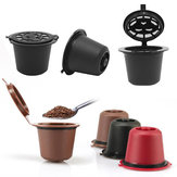 6 Stks / set 50-100 ml Hervulbare Koffie Capsule Cup Herbruikbare Koffiepads w / Koffielepel Borstel voor Nescafe Dolce Gusto Brewer