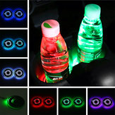 Universal 7 Colors LED Car Cup Holder Pad Bottle Mat Auto Interior Atmosphere Lights USB Charging
