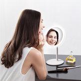 AMIRO HD Luz do dia Maquiagem Rotação do espelho ajustável de 60 °