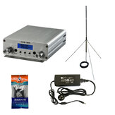 CZH-15A CZE-15A FU-15A 15W FM Stereo PLL Broadcast Transmitter FM Exciter 88Mhz - 108Mhz + GP 1/4 Wave Antenna + PowerSource