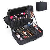Women Makeup Bag 2/3 Layer Space Travel Organizer Storage Handle Waterproof