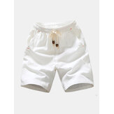Mens Summer Fashion Breathable Solid Color Casual Shorts