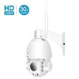 Besder 30XB HD1080P 30X Zoom PTZ Mise au point automatique Caméra IP sans fil étanche Vision nocturne couleur M-otion Détection Moniteurs pour bébé