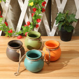 4-delige set hangpotten Cotta bloempot Terra Colorful Kruidenplanter Wall Home Garden Decor