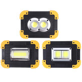 350W COB Flood Light LED Campinglicht USB Oplaadbaar IP42 Waterdicht 3-modus noodwerklamp