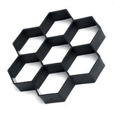 DIY Hexagon Pave Maker Mold Plastic Garden Paving Brick Mold Paving Cement Brick Mold