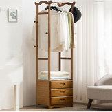 8 wieszak na wieszaki 2/3 szuflady bambusowy drewniany stojak do wieszania tkaniny spodnie wieszak do przechowywania w biurze domowym
