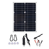 DJ-15 12V/5V Single USB Interface Solar Panel Battery Charger with Cables