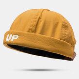 Erkekler Kadın İnce Bölüm Şapka Hip Hop Şapka Yuppie Şapka YUKARI Harfli Denizci Şapkası Brimless Şapkas