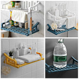 Suction Wall Mount Storage Rack Holder Shelves Bathroom Kitchen Organizer Shower Shelf