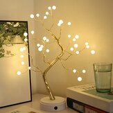 Christmas DIY Tree Light LED  USB Touch Copper Wire Night Light for Wedding Party Home Decor Gift