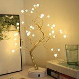 Natal DIY Tree Light LED USB Touch Copper Fio Night Light para festa de casamento Decoração de casa presentes