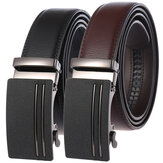 Two-layer Leather Belt Business Belt Automatic Buckle Belt