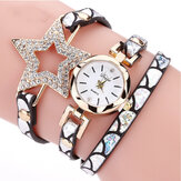 Duoya328estreladecincopontas relógio de pulseira de mulheres de estilo retro