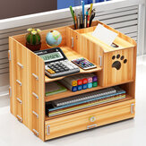 32.5x22.5x26cm Pencil Pen Holder Storage Box Rack Desk Stationery Density Plate Desktop Organizer