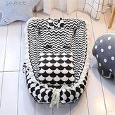 Baby Sleep Nest Bed Kussen Quilt Pasgeboren ademend katoenen slaapbedje Wieg