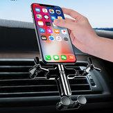 Bakeey gravitációs összeköttetés automatikus záró szellőző autós telefon tartó 360 fokos elforgatás 4,0-6,5 hüvelykes okostelefonhoz iPhone 11 Samsung Note 10