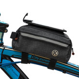 Almacenamiento de la viga delantera de la bicicleta Bolsa Teléfono móvil Bolsa Bicicleta de montaña de gran capacidad Bolsa Multifuncional herramienta Bolsa