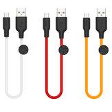 HOCO 2.4A Type-C Cabo de dados de carregamento rápido micro USB 0,25M Para Huawei P30 Pro Mate 30 Mi9 7A 6Pro 9Pro S10 + Note10