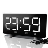 Digital FM Radio Dimmer LED Dual Alarms USB Charging Port Alarm Clock