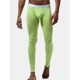 Modal Pure Color U Convex Long Johns