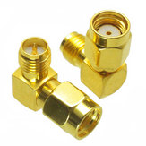 5pcs RP-SMA Male to RP-SMA Female Adapter Right Angle RF Connector For FPV RC Drone