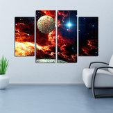 Miico Ручная Роспись Четыре Комбинации Декоративные Картины Космический Звездный Sky Wall Art Для Украшения Дома