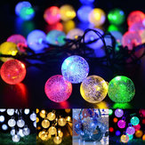 21ft Solar String Lights 30 Crystal Balls Outdoor Home LED Fairy Lights Decorations