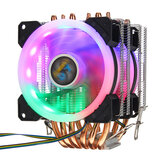 CPU Cooler 6 Heatpipe 4-Pin RGB 2x ventilateur pour Intel 775/1150/1151/1155/1156 / 1366AMD