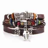 Retro Owl Fish Multi Layer Bracelet