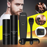 Men Oil Beard Mustache Growth Essential Oil Liquid + Beard Roller + Comb