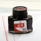 HERO 20/25/50/60ml Bottled Glass Smooth Writing Fountain Pen Ink Non-carbon Waterproof Ink Refill Students Stationery Office School Supplies 201 202 203 204 400 440 8801 8802 8804 8808 9001 9002