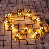 1,65 M Gold Öllampe Batterie Powered 10LED Fairy String Licht für Urlaub Weihnachten Indoor Home Decoration