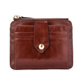 Men Vintage RFID Blocking Card Holder Wallet Zipper Coin Bag