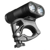 3000LM Double LED Rechargeable Bicycle Head Light Bike Type-C Lamp+Rotating Mount Headlamp