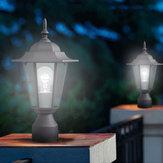 40 W Lâmpada de lanterna de parede ao ar livre LED Lâmpada de jardim Pátio Pátio Pilar Vela Luz de segurança