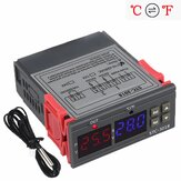 STC-3018 12V / 24V / 220V Digitaler Temperaturregler C / F-Thermostatrelais 10A Heiz- / Kühl-Thermoregulator mit doppeltem LED-Display