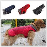Winter Waterdichte hondenkleding Hondenjas Vest Huisdier warme gewatteerde jas Bontkraag