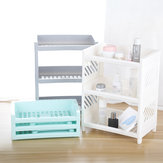 Desktop 3 Layers Storage Shelf Stationery Cosmetics Makeup Brushes Holder Sundries Organizer Office Home Bathroom Supplies