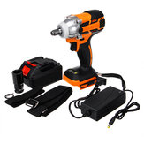 1/2'' Brushless Electric Impact Wrench Cordless Torque Tool 20V 28000mAh Battery