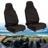 Tampa de assento preta do carro do poliéster 132 x 54CM impermeável lavável