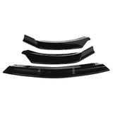 3 pezzi copri spoiler per la protezione del paraurti anteriore nero lucido lucido per Mercedes Benz classe CLA W117 2016-2020