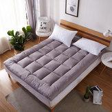 1.5M / 1.8M Стеганый рельефный матрас Водонепроницаемы Защитная накладка Ultra Soft Дополнительная накладка для кровати