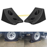 2Pcs/Set Rubber Wheel Chock Chocks Stop Brake Wedges Car Caravan Trailer Truck Block