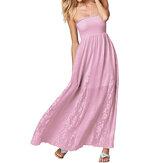 Szydełkowa, szydełkowa, elegancka sukienka damska bez ramiączek