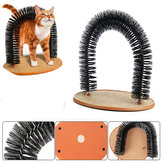 Pet Cat Arch Hair Grooming Scratcher Toy Zelf-Groomer Speelgoed Massage