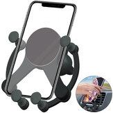 Supporto per telefono per auto con presa d'aria a gravità per caricabatterie wireless Bakeey da 10 W per Smart Phone 5.0-6.7 Pollici