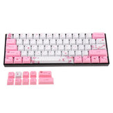 MechZone OEM Profile PBT Sublimation Sakura Keycap for 60% Anne pro 2 Royal Kludge RK61 Geek GK61 GK64 Mechanical Keyboard